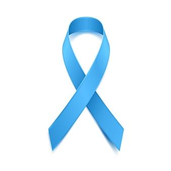 Movember - monat des bewusstseins für prostatakrebs. männergesundheitskonzept. blaues bandsymbol. gut für plakat, banner, karte.