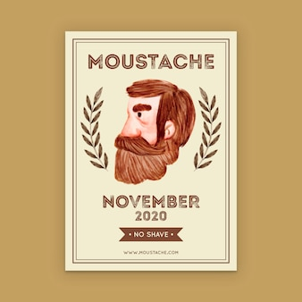 Movember-plakatschablone