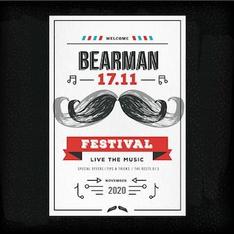 Movember poster vorlage für club