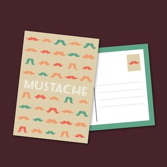 Movember postkartenschablone