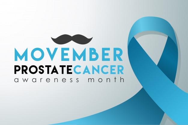 Movember prostatakrebs-bewusstseinsmonatsfahne