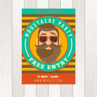 Movember-schnurrbart-plakatschablone