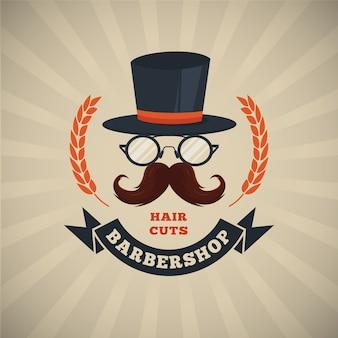 Movember-schnurrbartbewusstseinshintergrund im flachen design