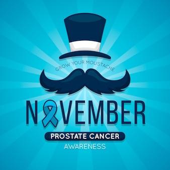 Movember tapete mit blauem farbband