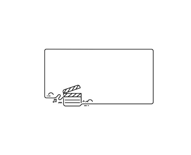 Movie maker - clapper board, isoliert auf grunge-vektor-hintergrund