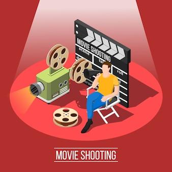 Movie shooting hintergrund