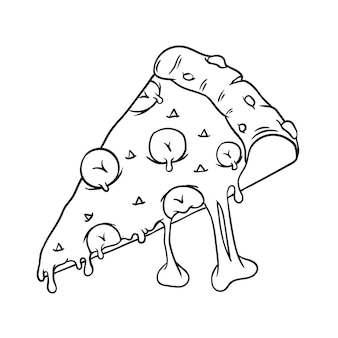 Mozarella-käse-schwarzweiss-pizza