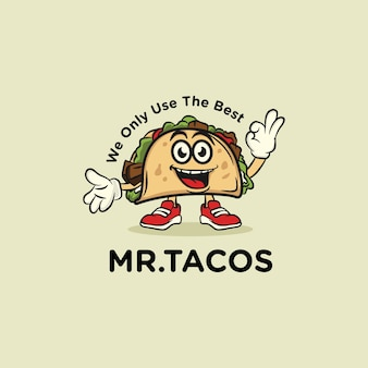 Mr. tacos food logo