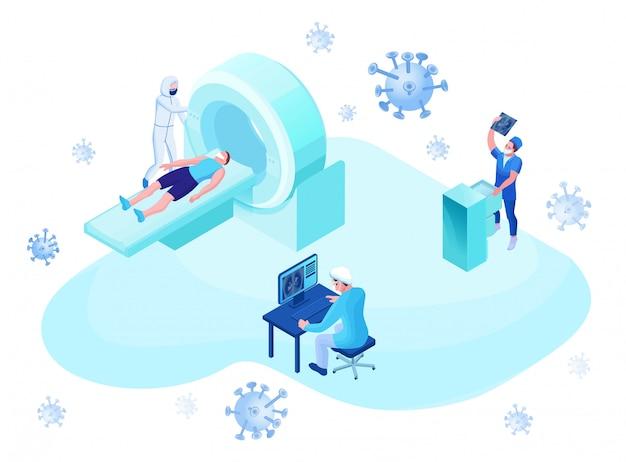 Mri-scan des 2019-ncov-coronavirus-patienten