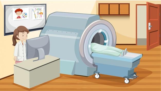 Mrt-untersuchung im krankenhaus