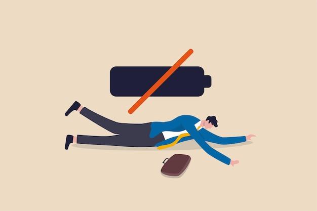 Müdigkeit erschöpft büroangestellte, burnout von überarbeitung routine oder kein inspirationskonzept mehr