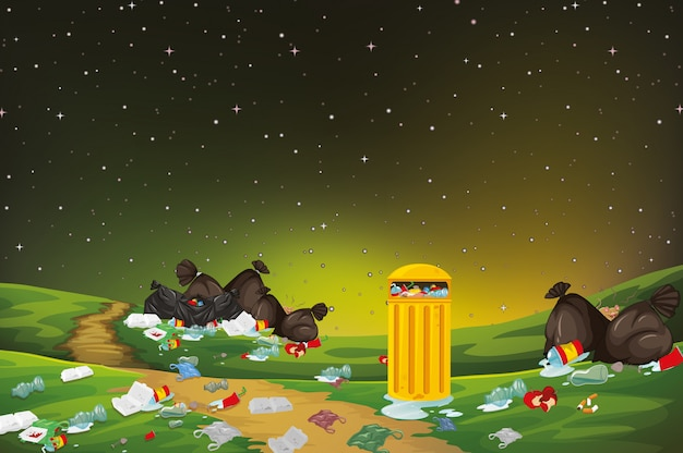 Müll in der parkszene