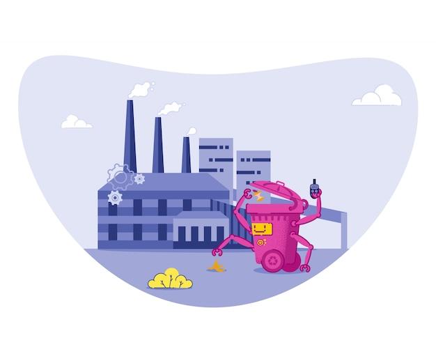 Müll sortieren, recyceln, um die umwelt zu schützen.