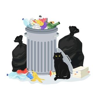 Müllstapelillustration