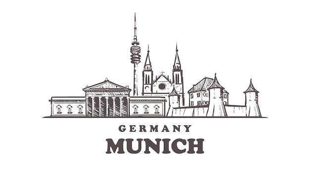 Münchner hand gezeichnet, deutschland