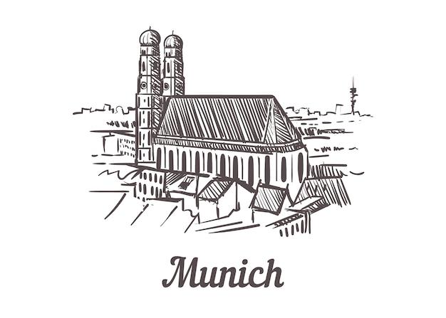 Münchner stadtbildskizze