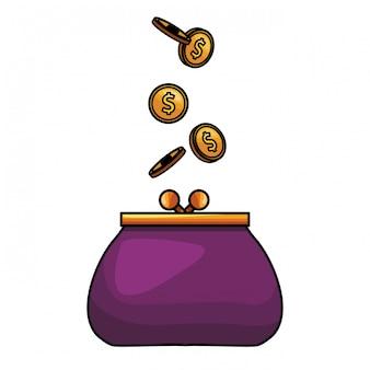 Münze geldbeutel-symbol