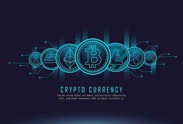 Münzen der kryptowährung