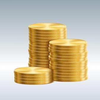 Münzen isoliert