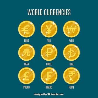 Münzen welt gesetzt