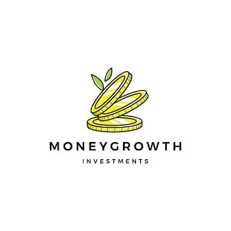 Münzenwuchssprösslingsgeldwachstum-investitionslogo