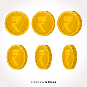 Münzsatz der indischen rupie