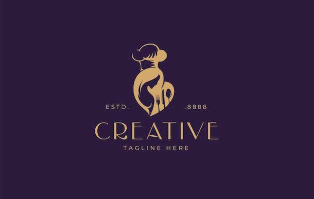 Mütter lieben es, logo-design-vorlagen zu kochen
