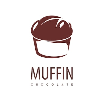 Muffin cup cake logo