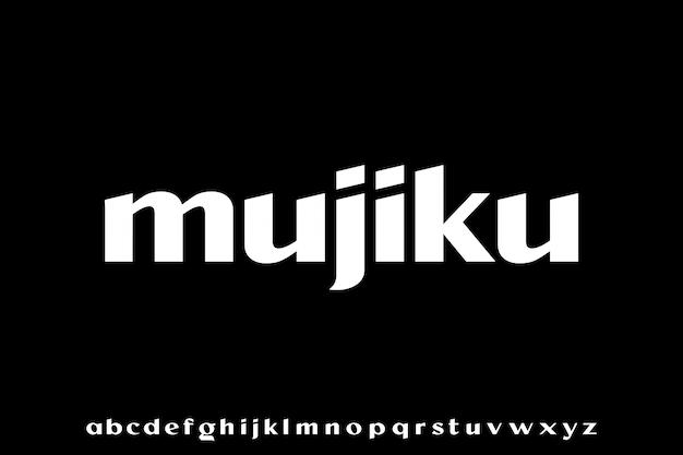 Mujiku, die luxusart elegante schrift und glamour-alphabet