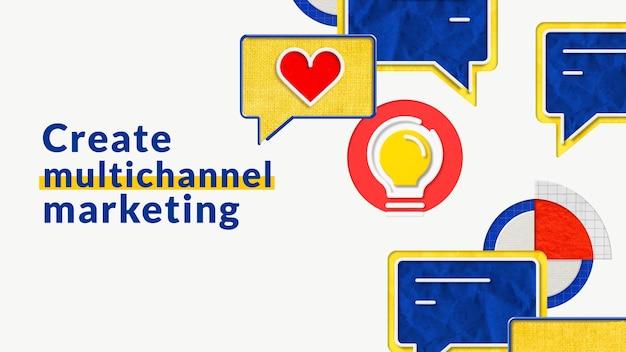 Multi-channel-marketing-geschäftsvorlage für e-commerce-marken