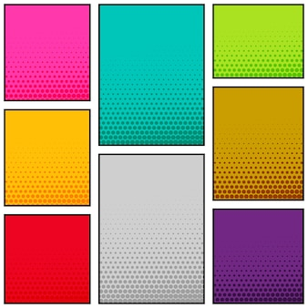 Multi-color-comic-stil vertikale banner-design