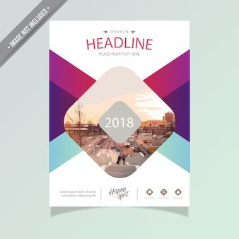 Multicolor business broschüre