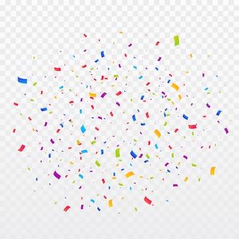 Multicolor konfetti platzen hintergrund