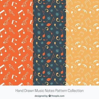 Multicolor musik noten muster hintergrund