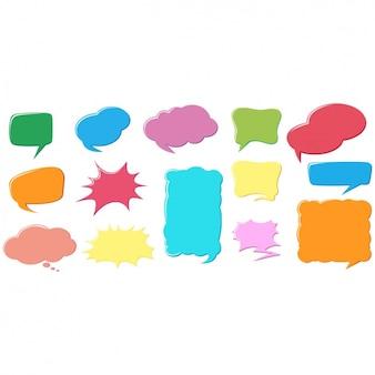 Multicolor sprechblasen sammlung