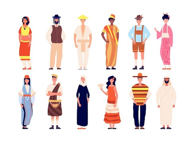 Multiethnische menschen. multikulturelle gruppe, drängen verschiedene menschen zusammen.
