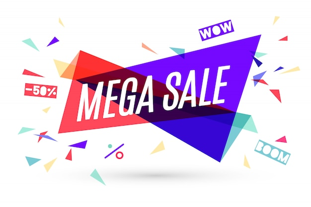 Multifunktionsleiste banner mit text mega sale