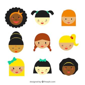 Multikulturelle mädchen
