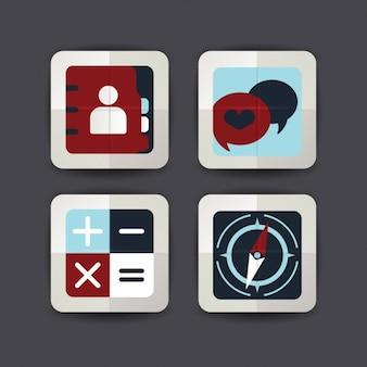 Multimedia-ikonen-sammlung