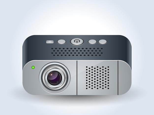 Multimedia-projektor realistische symbol