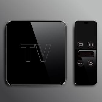 Multimedia- und tv-box-receiver mit fernbedienung