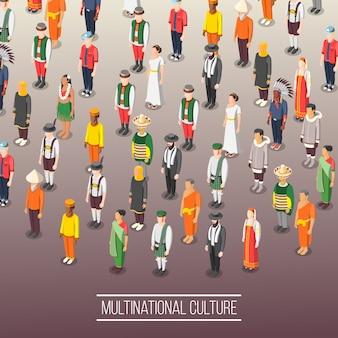 Multinationale weltkultur-komposition
