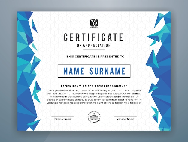 Multipurpose modern professional certificate vorlage design für print. vektor-illustration