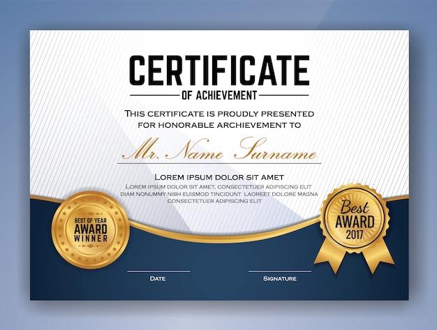 Multipurpose professional certificate vorlage design für print. vektor-illustration