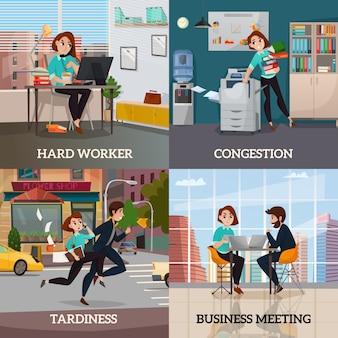 Multitasking 2x2 design-konzept