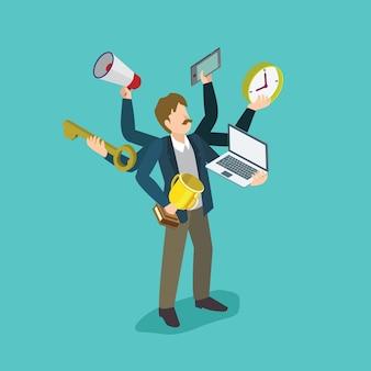 Multitasking-mann