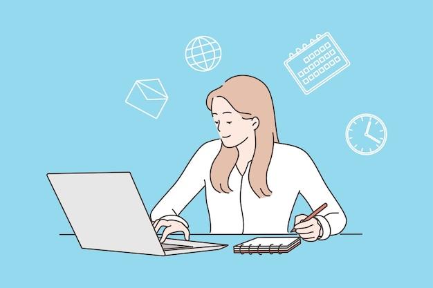 Multitasking, zeitmanagement und produktivitätskonzept.
