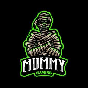 Mummy esport logo maskottchen gaming