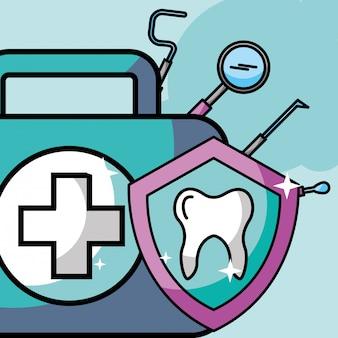 Mundpflegeset schutzinstrument dental