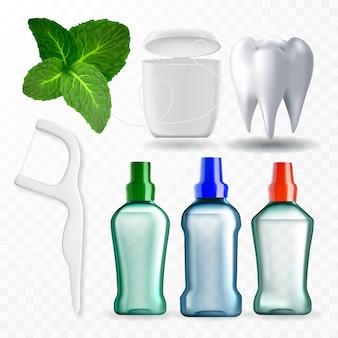 Mundwasser hygiene flüssigkeit und ausrüstung set